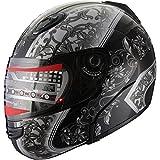 Snowmobile Helmet Modular Flip up Anti Fog 304_138 Black (M)