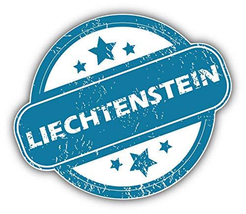 Magnet Liechtenstein Grunge Stamp Vinyl Magnet Bumper Sticker Magnet Flexible Vinyl Magnetic 5