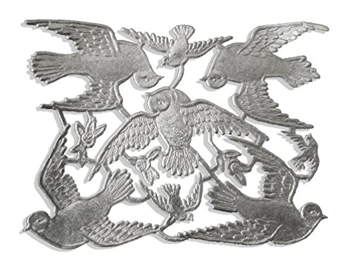Victorian Scrap Die Cuts (Walter Kunze Design 8-Piece Dresden Doves, Silver)