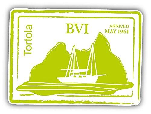 (Tortola British Virgin Islands Retro Sailing Passport Stamp Home Decal Vinyl Sticker 5'' X 4'')