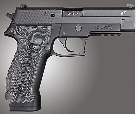 Hogue SIG Sauer P226 DA/SA Magrip Checkered G10, G-Mascus Black, Black 23779