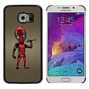 TopCaseStore / la caja del caucho duro de la cubierta de protección de la piel - Samurai Sword Dead P Superhero - Samsung Galaxy S6 EDGE SM-G925