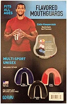 FDA COMPLIANT BPA AND LATEX FREE FITS ALL AGES FLAVORED MOUTHGUARDS MULTI-SPORT UNISEX