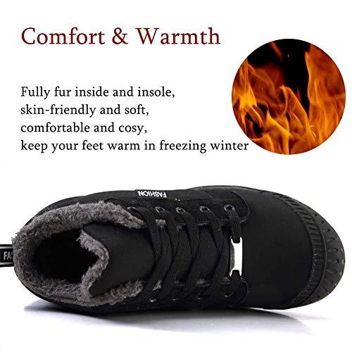 VAMV Kids Snow Boots for Boys Girls Waterproof Winter Warm Shoes Lightweight