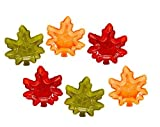 Fall Autumn Maple Leaf Stackable Salsa Bowls, Snack, Dip, Crackers, Olives, Nuts or Candy (6, Fall Harvest Multi)