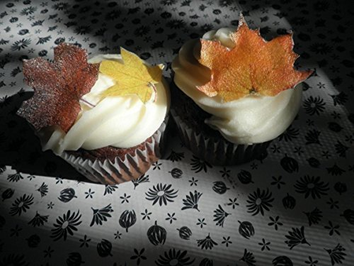 Edible Fall Leaves - Set of 20 - Cake Decorations, Cupcake Topper