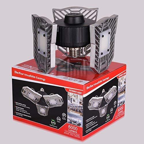 80W Motion Activated LED Garage Lights, Adjustable Trilights Garage Ceiling Lighting, High Bay Deformable LED Corn Light Bulbs with Motion Sensor 8000LM 6000K, HID HPS Metal Halide Lamps 300W Equiv. by GRG (Image #6)