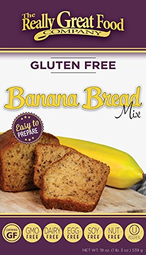 - Really Great Food Company – Gluten Free Banana Bread Mix – Large 19 ounce box - No Nuts, Soy, Dairy, Eggs - Vegan, Kosher and Non-GMO