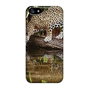 DaMMeke SiyPWaQ179wsheA Case For Iphone 5/5s With Nice Drinking Water Jaguar Appearance