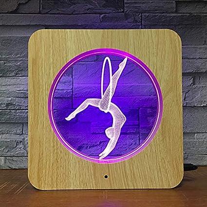 Diseño de Yoga Marco de Fotos luz Nocturna lámpara Personalizada lámpara de Mesa niños cumpleaños Color Regalo decoración del hogar Transporte por Goteo