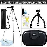 """Essential Accessory Kit For Canon VIXIA HF R52, HF R50, HF R500, HF R600, HF G10, HF R60, HF R62, HF R300, Canon Vixia Mini Includes 50"""" Tripod + Compact Hard Shell Case + 7"""" Flexible Tripod + More"""