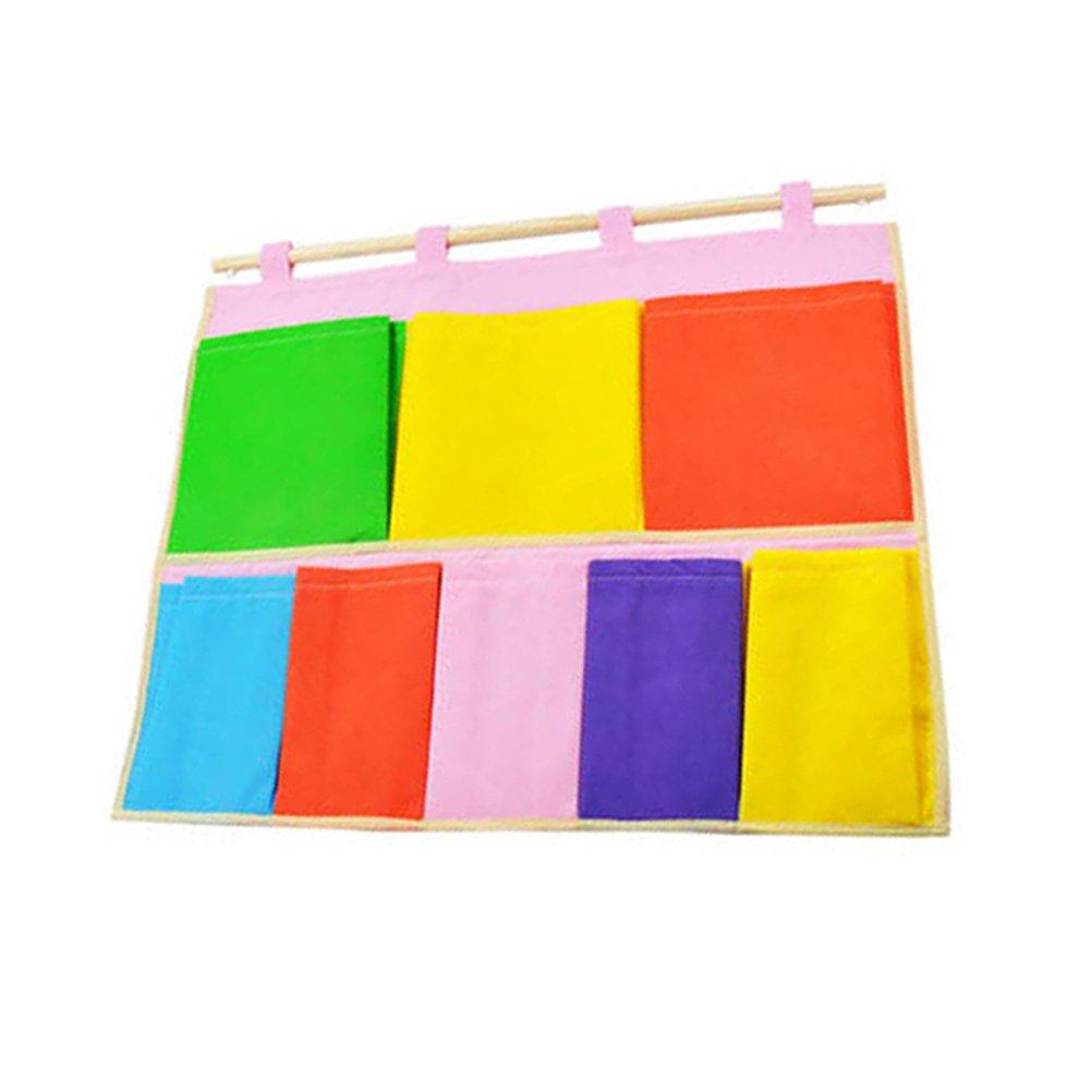 Gespout Bunt Pouch Leinen wasserdicht Multifunktions-12-Pocket Wand-Aufbewahrungs Beutel Mehrschicht-Wandbeutel Lagerung h/ängende Tasche