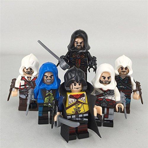 6pcs-set-Assassin's-Creed-Minifigures-Kenway-Dorian-Cormac-Firenze-Building-Toy