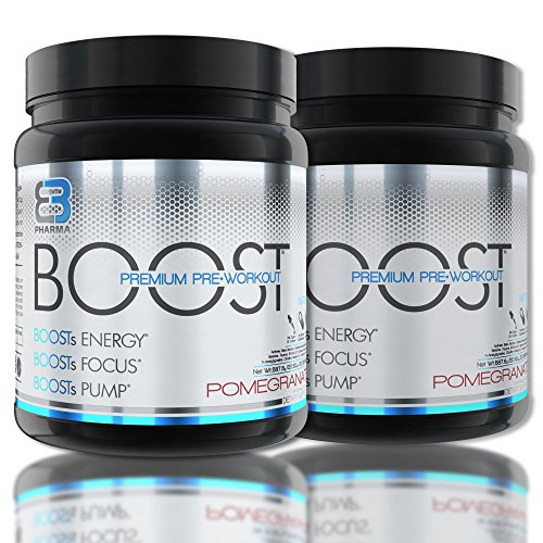 Eb Pharma Boost Pre Workout Supplement With Bcaas  Creatine  Nitric Oxide  Beta Alanine  And More