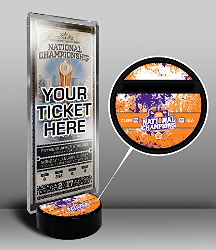 Tickets Tigers Football (Clemson Tigers 2016 Football National Champions Ticket Display Stand)