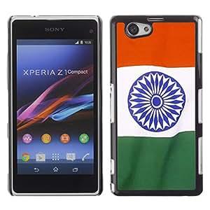 TopCaseStore / la caja del caucho duro de la cubierta de protección de la piel - India Flag; - Sony Xperia Z1 Compact D5503
