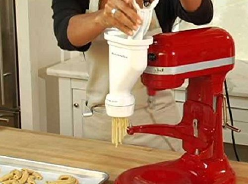This Pasta Maker Machine Will Bring A Taste Of Italy Into Your Kitchen Create Your Gourmet Spaghetti Bucatini Rigatoni Fusilli Macaroni Creations Compatible With Every KitchenAid Stand Mixer