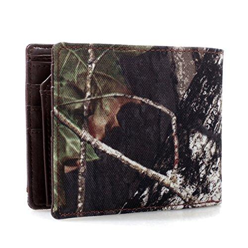 Mossy Oak Studded Bi-Fold Western Wallet - Brown