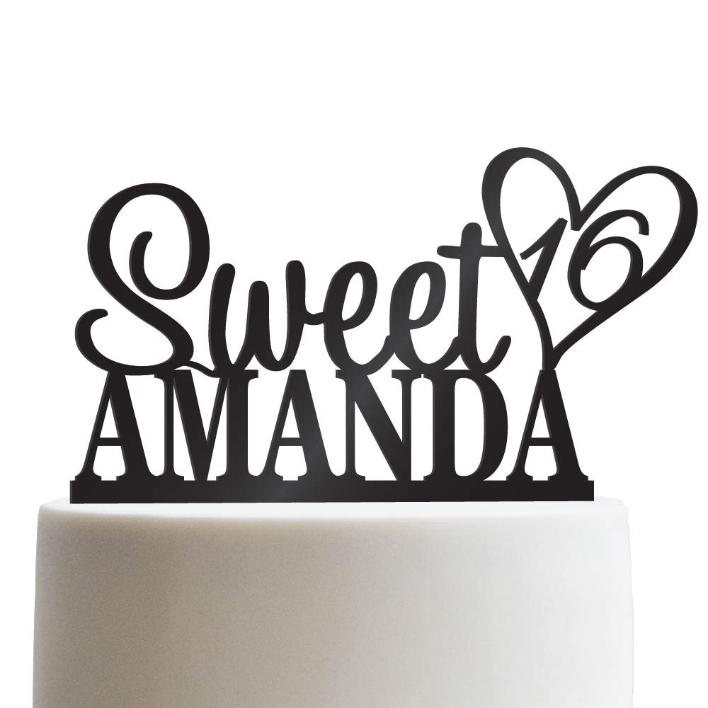 Amazon Personalized Sweet Sixteen Cake Topper 16th Birthday Customized Name Quincea Era
