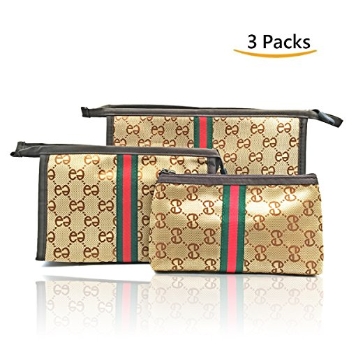 Vashid 3 Pieces Cosmetic Makeup Bags, Travel Toiletry Makeup