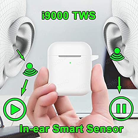 I9000 TWS - Auriculares Bluetooth con bisagra de metal para deportes