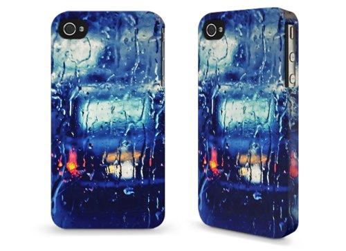 """Hülle / Case für Apple iPhone 4 und 4s - """"London taxi in the rain"""" von Ronya Galka"""