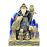Jim Shore for Enesco Heartwood Creek Winter Santa Masterpiece Figurine, 9.75-Inch