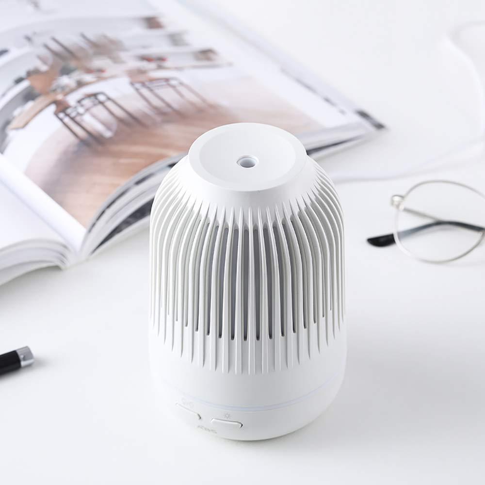 avec des lumi/ères LED. white Humidificateur dair Diffuseur d Huile Essentiel Diffuseur Huile Essentielle Maison ultra-silencieux Arr/êt automatique sans eau