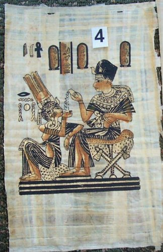 Egyptian Papyrus Painting * The Throne of king Tutankhamen * eg.b-4 ()
