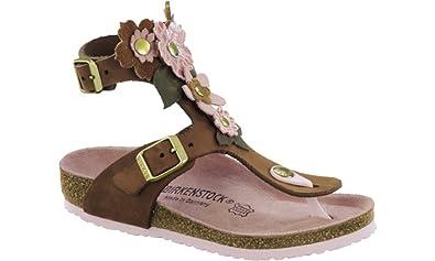 BIRKENSTOCK Gizeh High Flowers, Mädchen Schuhe mit Riemchen