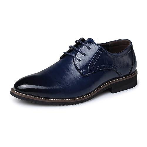 XHD-Mens Shoes Zapatos de Cuero de la PU de los Hombres Simples Mocasines de