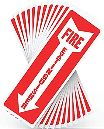 fire extinguisher signs safety sign sticker 12 pack 4 x 12 Star TV Show Cast unlock 10 savings