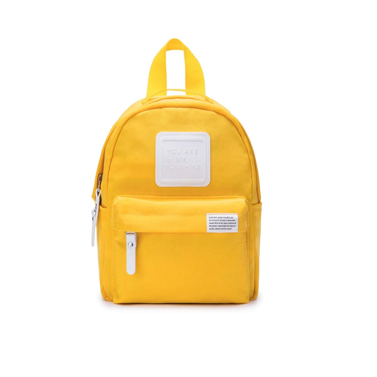 TONGBOSHI Backpack Female College Student Leisure Travel Bag, Small Fresh Backpack Campus Bag Male Fashion Trend (Color : Yellow)