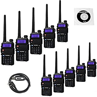 Sale 10 Pack BaoFeng UV-5RTP Tri-Power 8/4/1W Two Way Radio (Upgraded Version of UV-5R) Dual Band 136-174/400-520MHz True 8W High Power +1 Programming Cable
