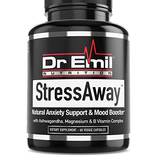 Dr. Emil StressAway – Natural Anxiety Relief Supplement with Ashwagandha, 5-HTP & L Theanine – Supports Anti Anxiety, Stress Relief & Mood Boost (60 Veggie Capsules)