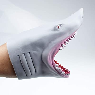 Yuanbbo Realistic Shark Hand Puppets Toys, Soft Rubber Great Shark Head, Shark Role Play Toy, Birthday Toy Gifts for Kids Toddlers Boys Girls: Toys & Games