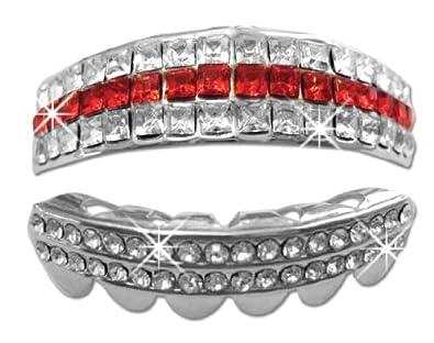 Amazon.com  Hip Hop Platinum Silver Teeth Grillz Set