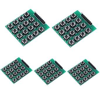 Akozon Módulos de teclado con 16 teclas pulsadores 4x4 matriz ...