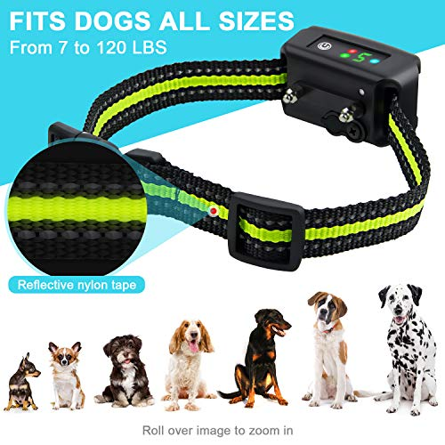 Bark Collar [2019 Upgrade Version] No Bark Collar Rechargeable Anti bark Collar with Beep Vibration and No Harm Shock Smart Detection Module Bark collar for Small Medium Large Dog by Authen (Image #5)