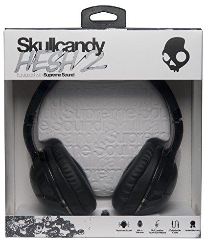 8e1e28ef67b Amazon.com: Skullcandy Hesh 2 Over-Ear Headphones with Mic, Black: Home  Audio & Theater