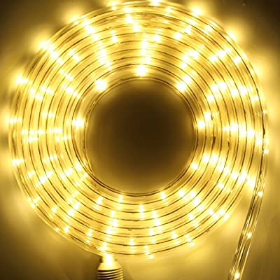 Hykolity LED Indoor/Outdoor Holiday Christmas Round Strip Rope Light