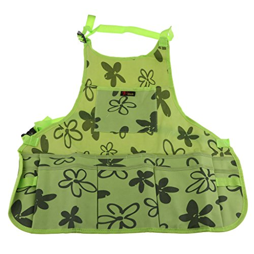 Fityle Utility Work Apron Tool Pocket Woodworking Gardening Craft Mechanic Woodshop Pockets Aprons Green/Brown Select - Green, 60x65x2cm by Fityle (Image #3)