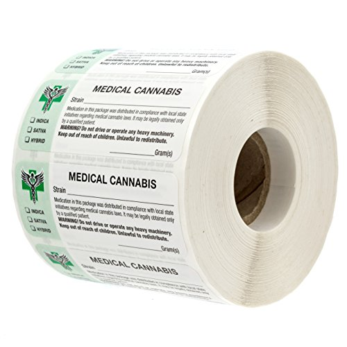 Generic Medical Cannabis Strain Labels - State Compliant Medical Marijuana, Pot Labels (1000 Labels per roll)]()