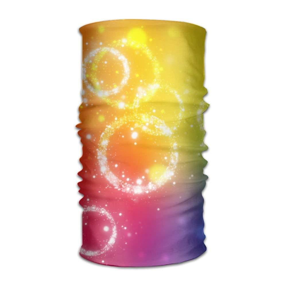 Creative Rainbow Background Unisex Fashion Quick-drying Microfiber Headdress Outdoor Magic Scarf Neck Neck Scarf Hooded Scarf Super Soft Handle