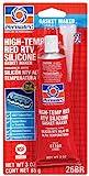 Permatex 81160 Hi-Temp Red Form-A-Gasket Silicone Sealant. 3 oz.