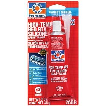 Amazon.com: Permatex 81160 Hi-Temp Red Form-A-Gasket Silicone ...