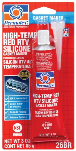 Permatex 81160 Hi-Temp Red Form-A-Gasket Silicone Sealant. 3 oz.