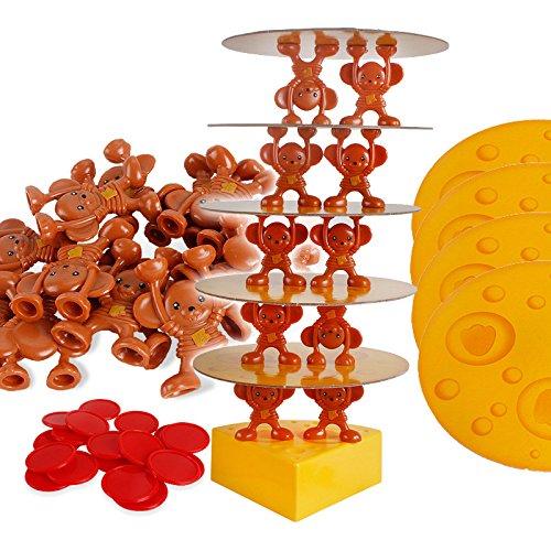 [해외]아이를 위한 마우스 드롭 게임 치즈 균형 보드 게임 플라스틱 교육 장난감 / Mouse Drop Game Cheese Balancing Board Game Plastic Educational Toys For Child
