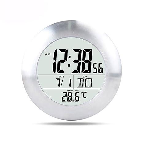 ZREAL LED Reloj de Pared de baño Digital a Prueba de Agua eléctrico Reloj de Pared