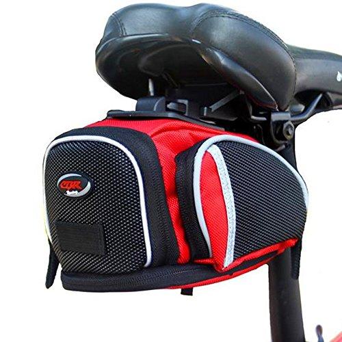 Sawz Waterproof 4 Compartment & Pocket Clip On Under Seat Bike Saddle Bag